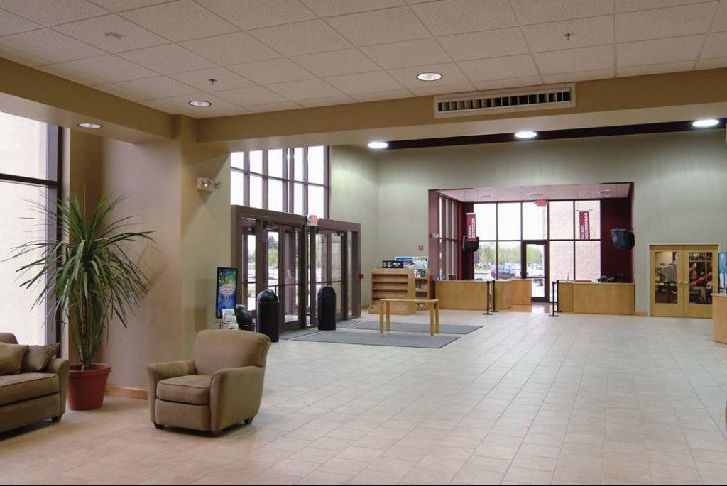 Small Church Foyer : Church welcome center design construction tile lobby