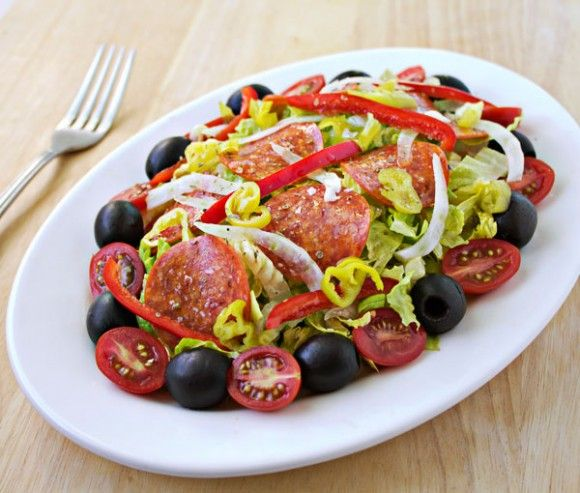 Italian Antipasto Salad with Red Wine Vinaigrette by Culinary Hill