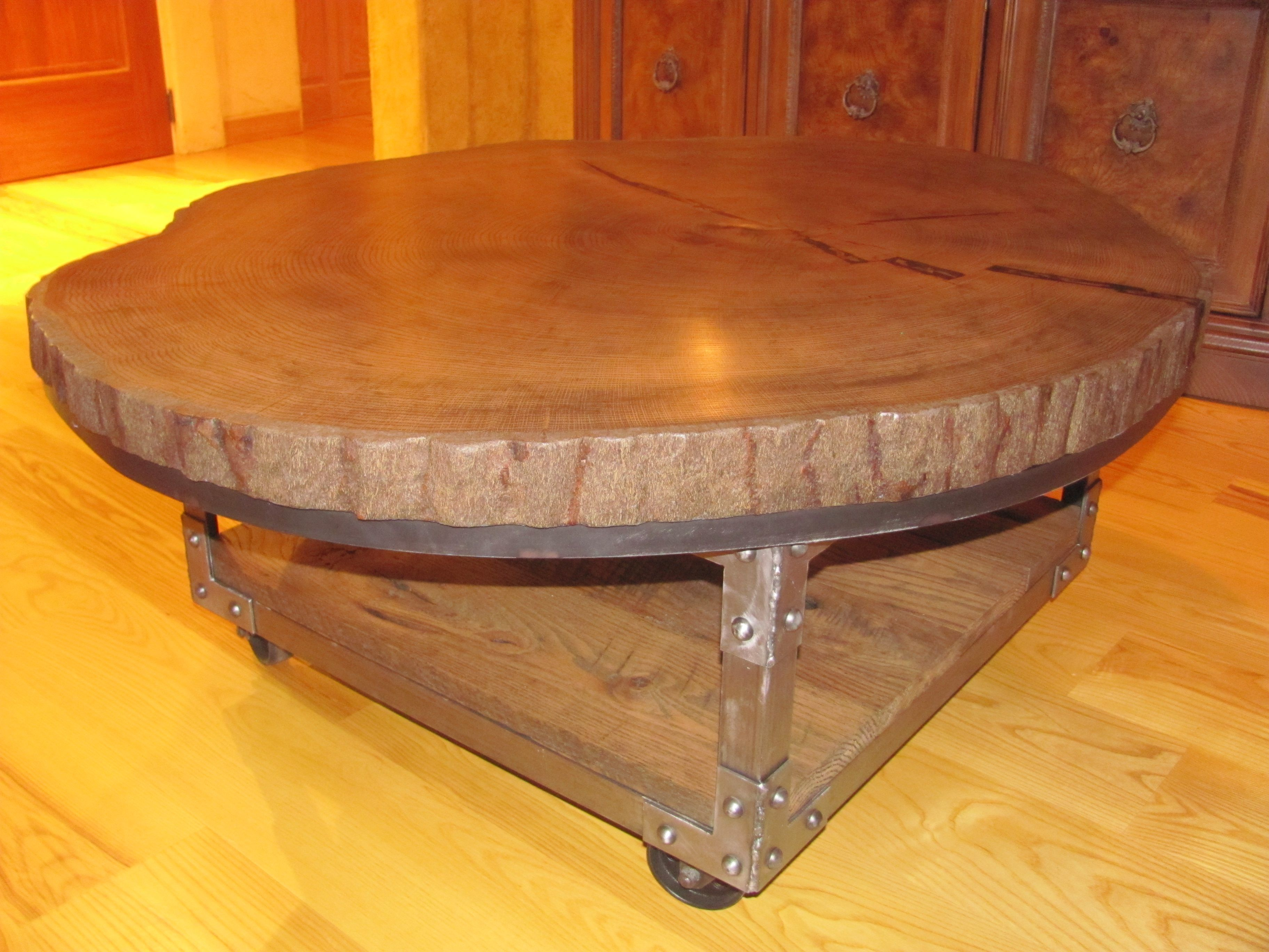 Coffee Table From 165 Year Old Oak Tree