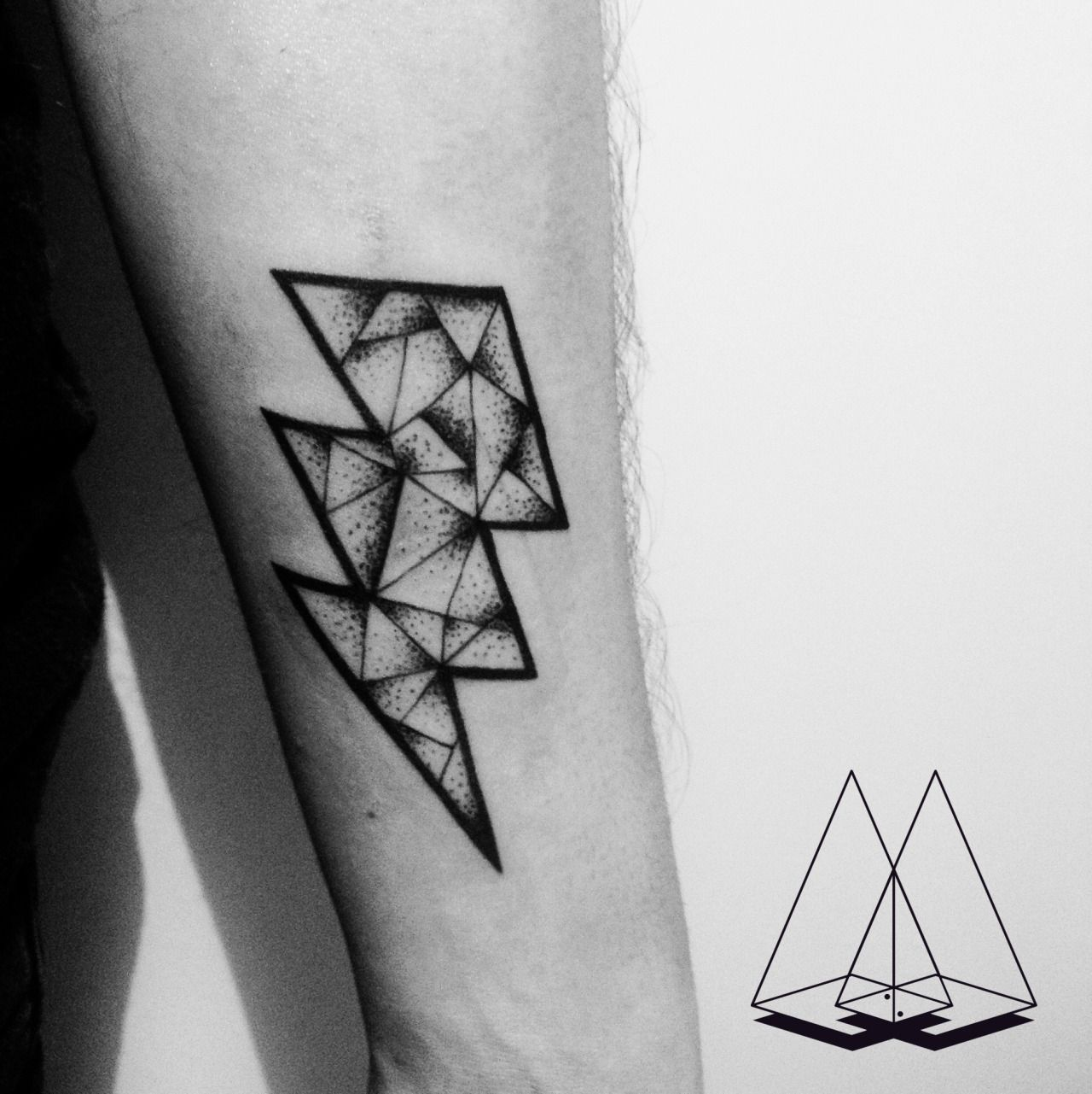 Lightning Bolt #galaxy #hipster #dotwork #geometric #space | ink ...