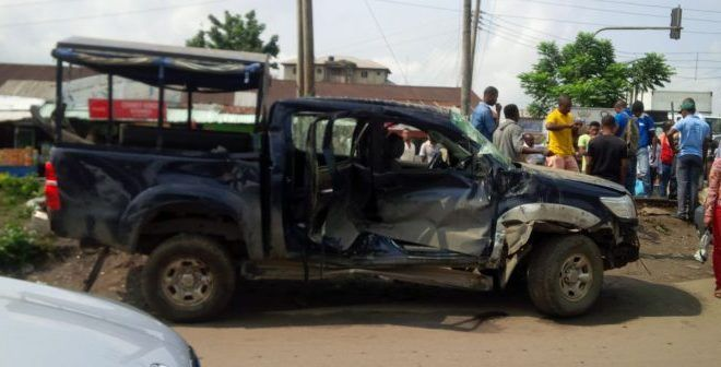 Passenger train collides with a car in Port Harcourt