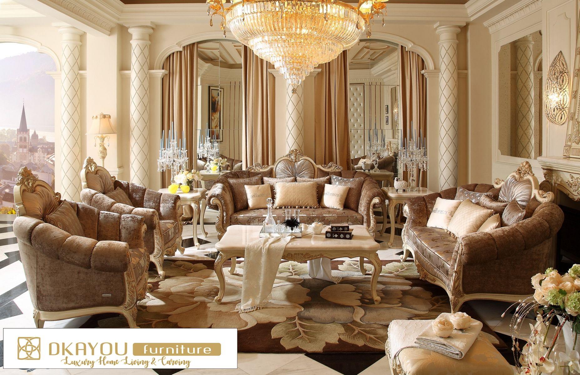 Set Kursi Sofa Tamu Klasik Modern Ruang Sksrt 444 Df