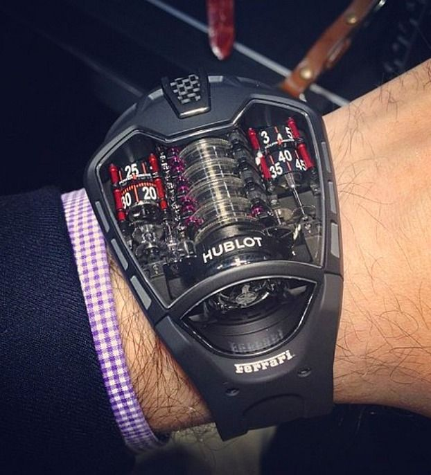 Hublot 2013 Ferrari engine like watch !!