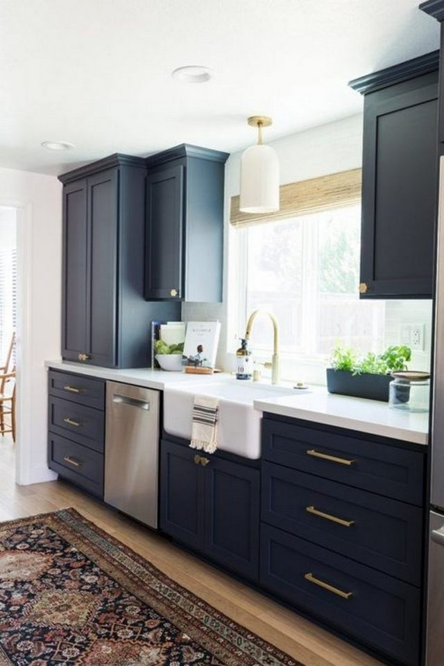 40 amazing navy kitchen cabinets for decorating your kitchen navy kitchen cabinets small on kitchen decor navy id=13843