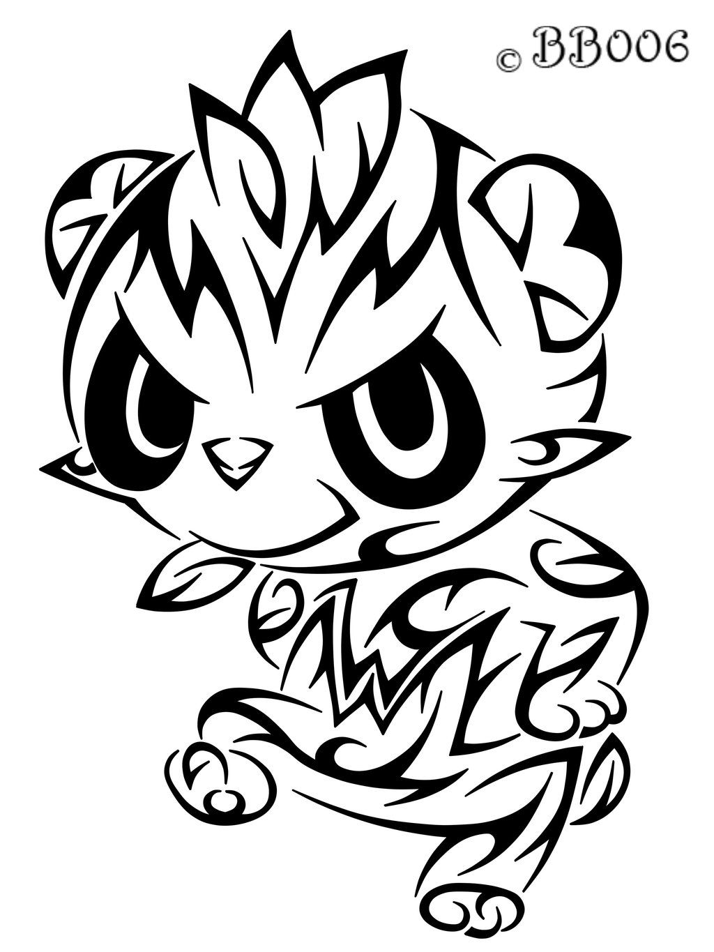 Pokemon coloring pages pancham - Pokemon Pictures Pancham Tribal Pancham By Blackbutterfly006 On Deviantart