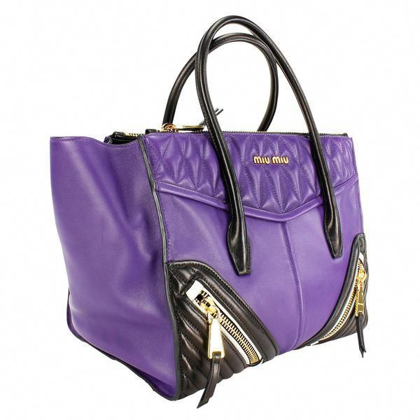 ae24249e22d9 Miu Miu Purple Leather Women s Shoulder Bag  MiuMiu