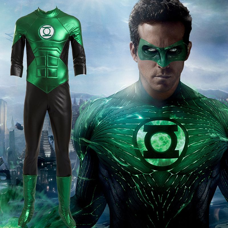 moive green lantern cosplay costumes full set customized halloween