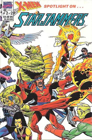 X-Men: Spotlight on Starjammers # 2 Marvel Comics Prestige Format Wraparound cover