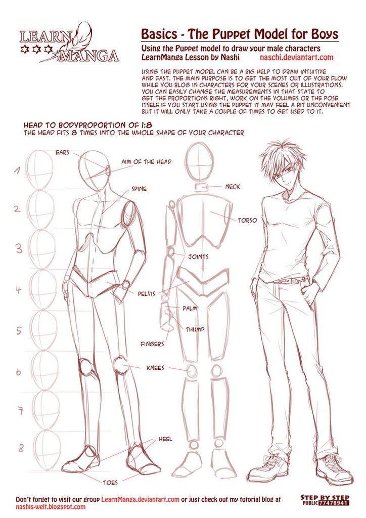 Anime Manga Male Body Anatomy Tutorials References Pinterest