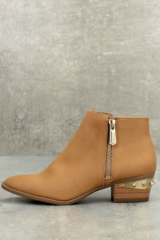 e079d7980864 No shoe makes a better street-style statement than the Circus by Sam  Edelman Holt Golden Caramel Leather Ankle Boots! A genuine leather
