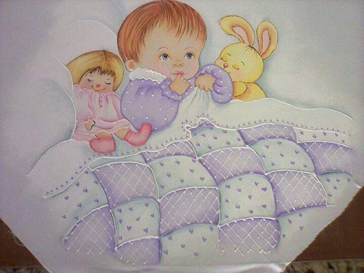 Bebe con manta dibujos sabanitas pinterest manta bebe y pintar tela - Dibujos para pintar en tela ...