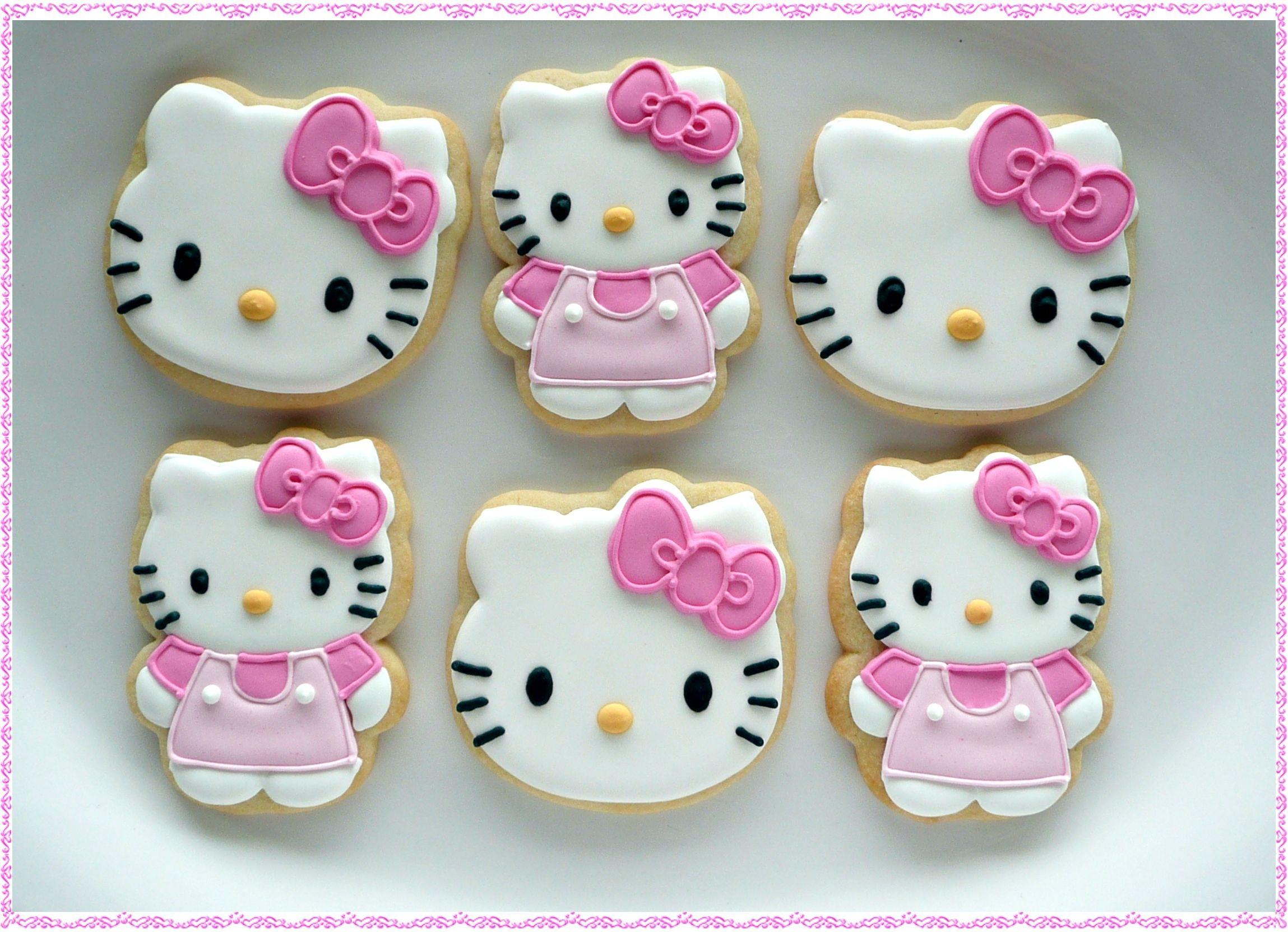Helly Kitty Cookies Hello Kitty Cookies Hello Kitty Cake Hello Kitty Birthday Party