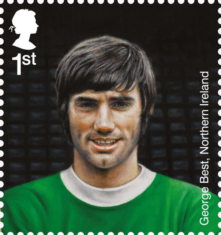 British Stamp 2013 - Football Heroes - Issued May 2013 George Best, Northern Ireland
