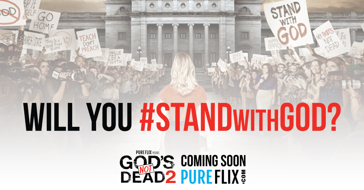 In honor of God's Not Dead 2 coming to Pure Flix, please