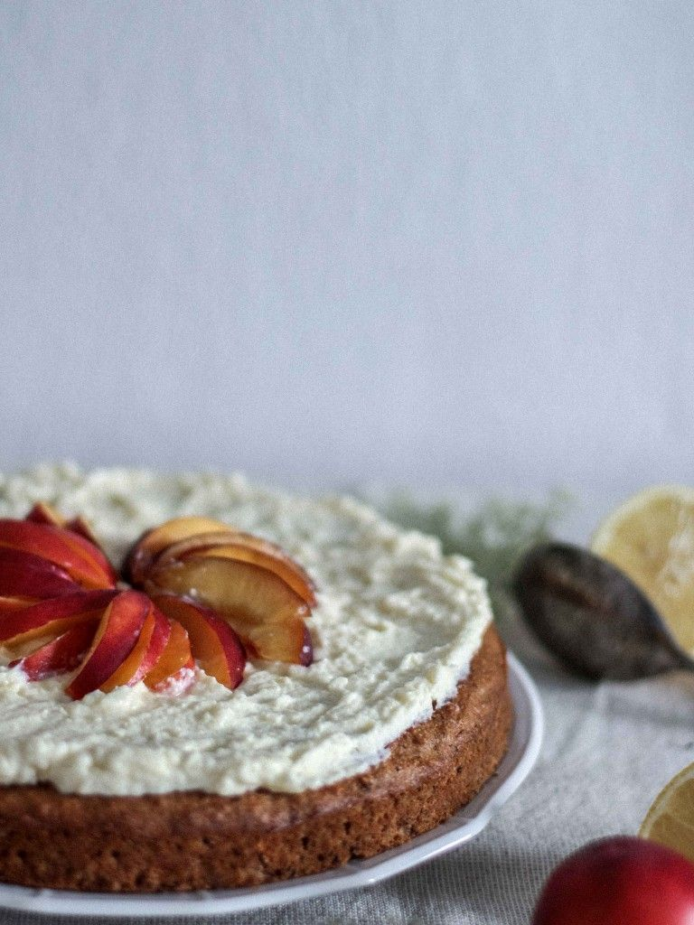 flourless chestnut cake with cream cheese frosting