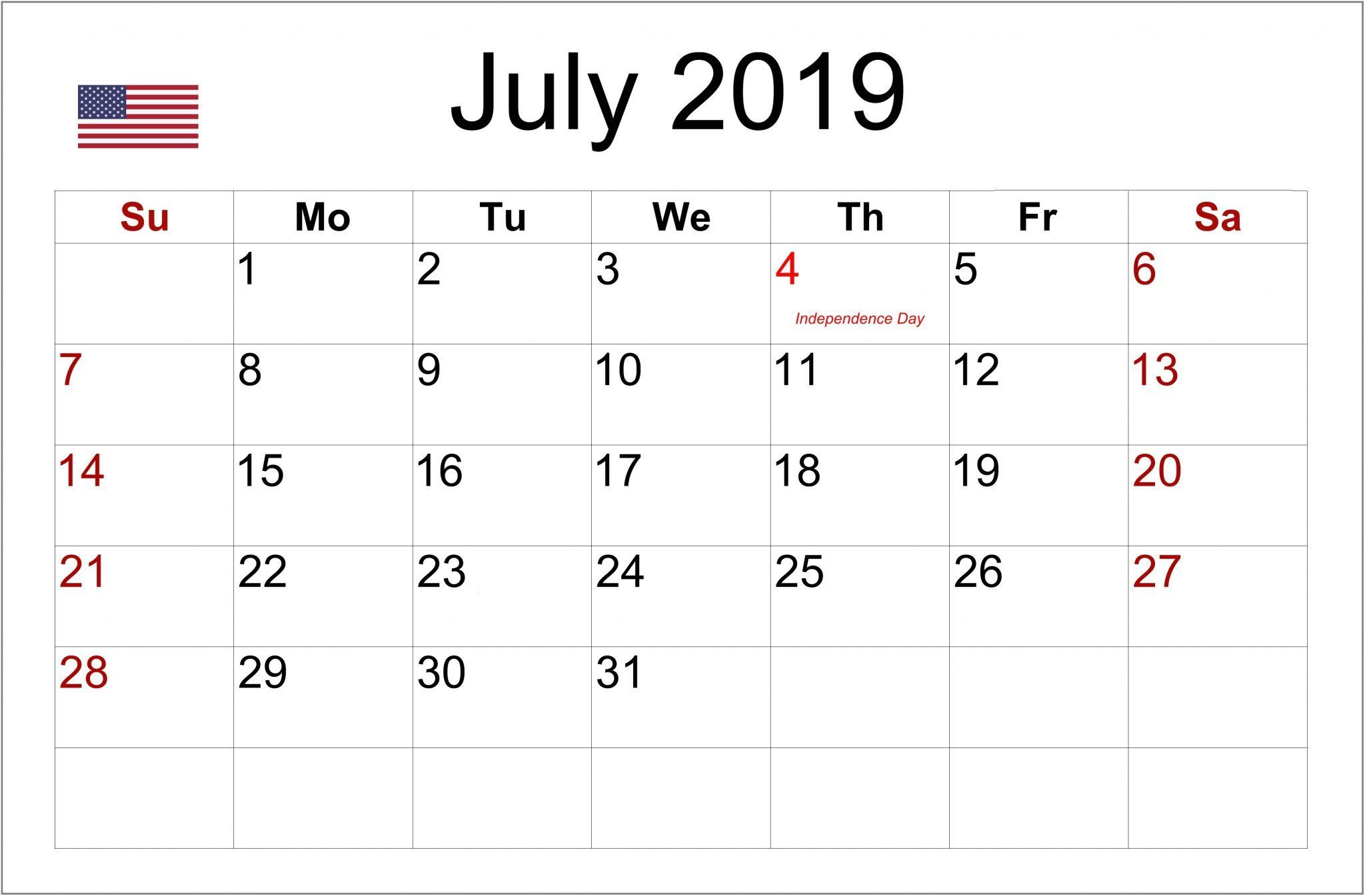 July 2019 Usa Holidays Calendar Local And Federal Holidays With