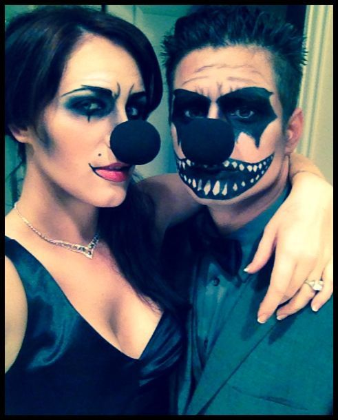 evil clown couple costume | Clown Couples  sc 1 st  Pinterest & evil clown couple costume | Clown Couples | Halloween | Pinterest ...