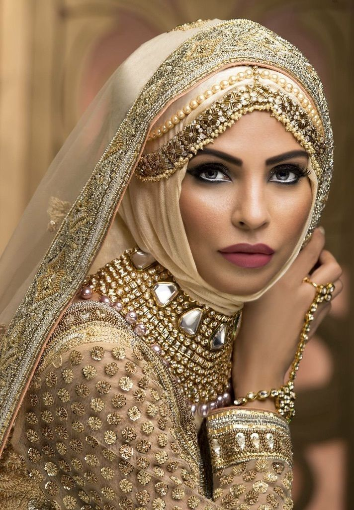 egyptian bridal makeup Google Search Bridal hijab styles