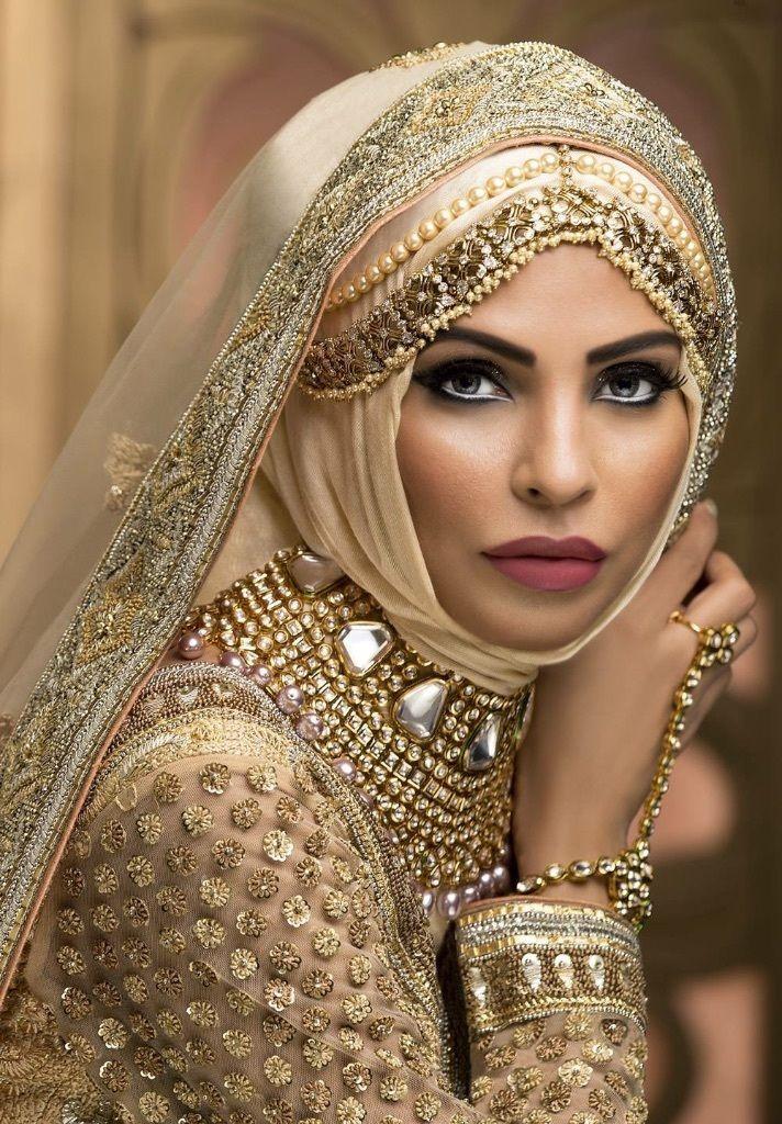 egyptian bridal makeup Google Search Bridal hijab styles
