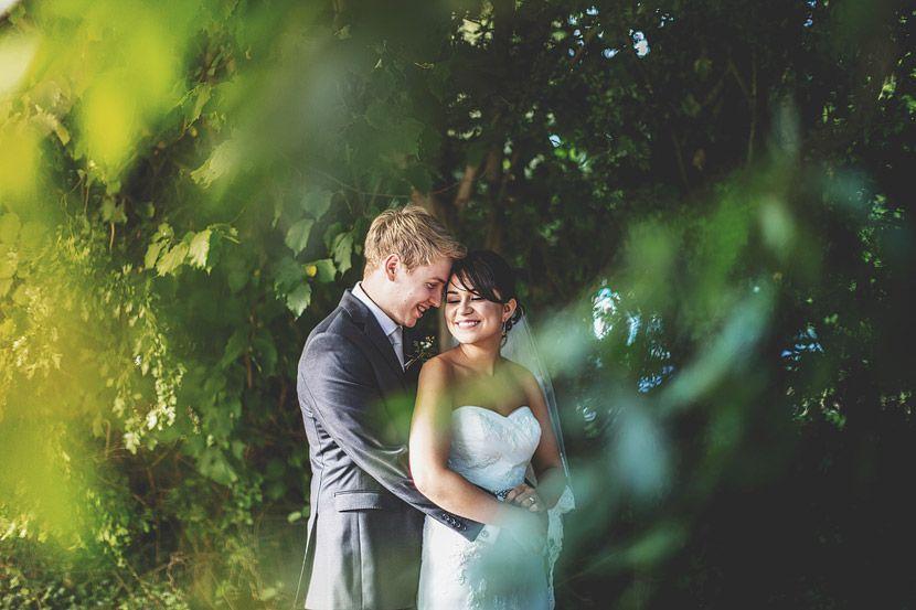 Shabby chic Wedding bride and groom