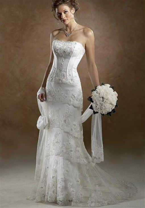 Western Wedding Dresses   Romantic western style wedding dress ...