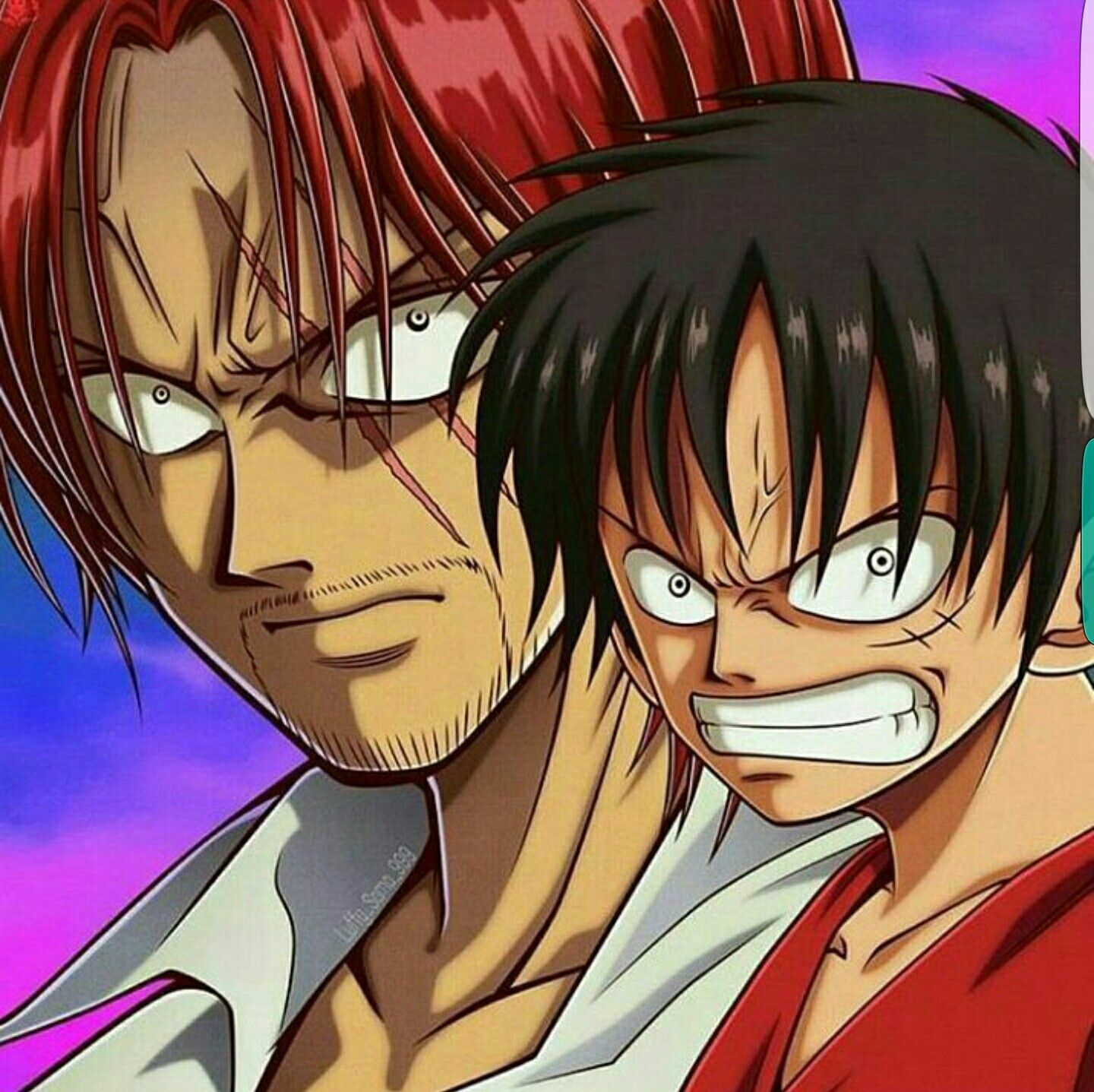 shanks luffy angry one piece one piece ワンピース pinterest