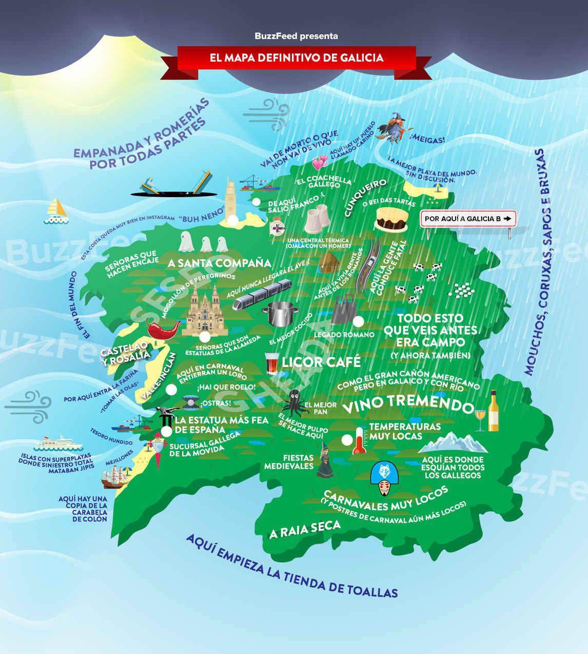 A Coruña Mapa Turistico.El Unico Y Definitivo Mapa Que Necesitaras Para Entender