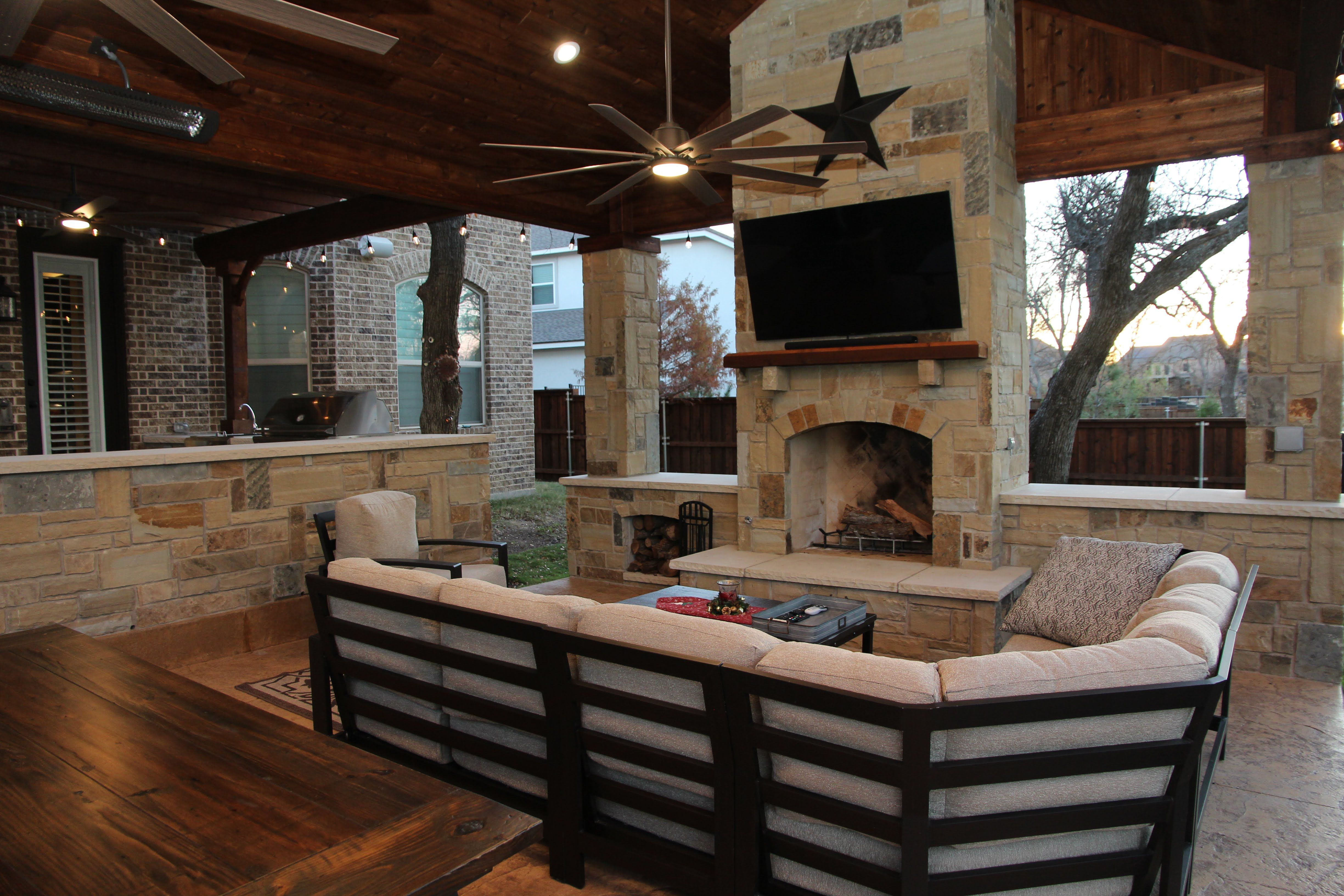 Flower Mound Outdoor Fireplace Texas Traditions Outdoors