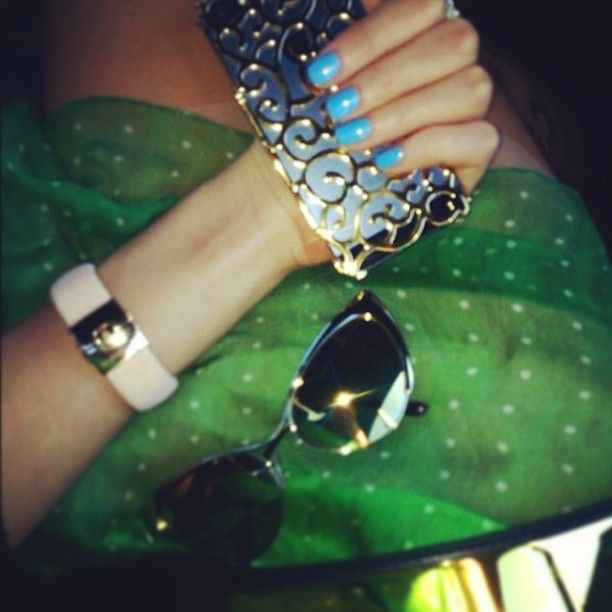 Beautiful baby blue nails