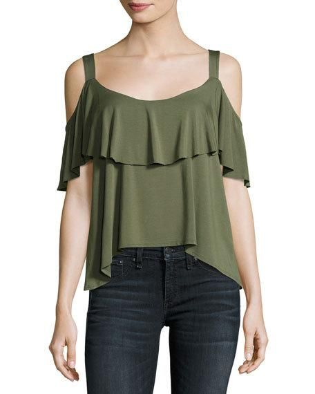 1def2f183d820 ELLA MOSS BELLA ENVELOPE COLD-SHOULDER TOP