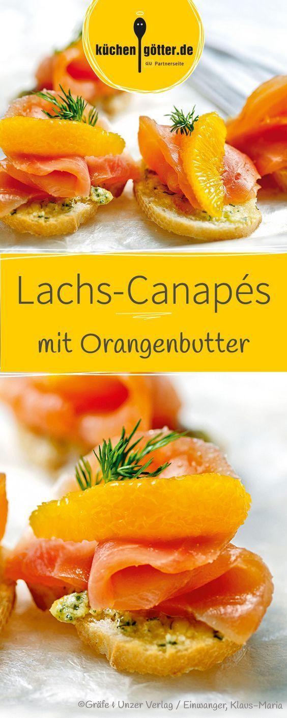 lachs canap s mit orangenbutter rezept bistro k seplatten catering fingerfood pinterest. Black Bedroom Furniture Sets. Home Design Ideas