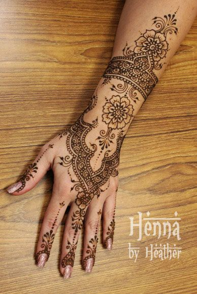 East Indian Henna Tattoo: Instant Download