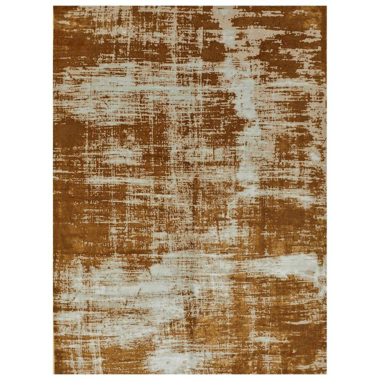 Area Rug In Hand Knotted Wool