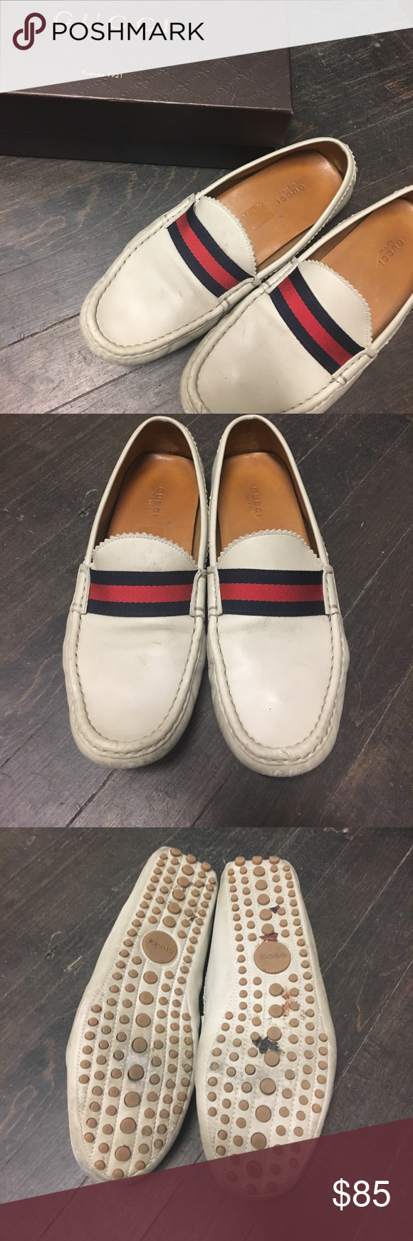6f73367c206 AUTHENTIC Gucci Grey Loafers in 2018