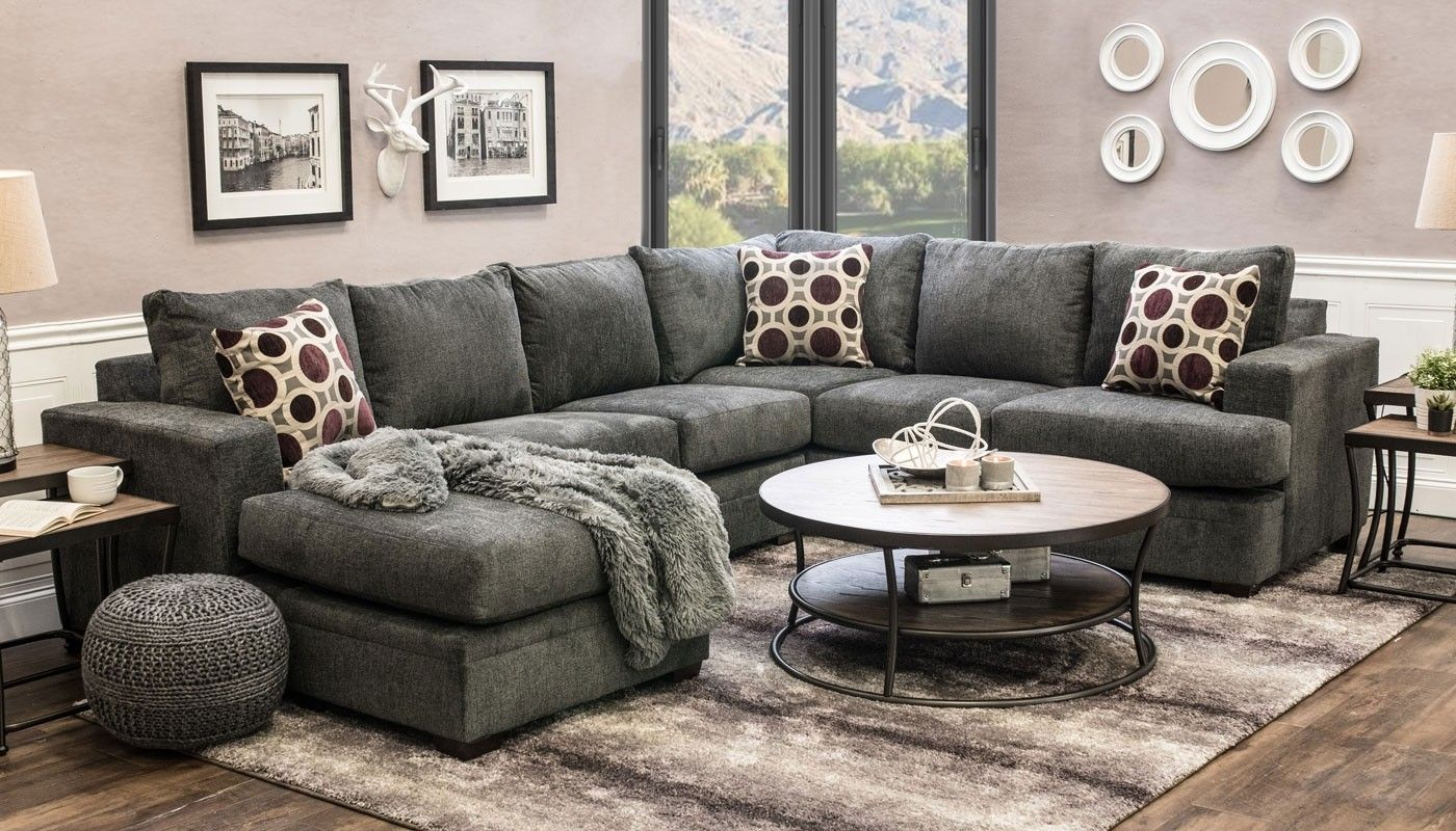 Home Zone Sofa Sullivan Flannel Sectional In 2019 Sofa Ideas Furniture