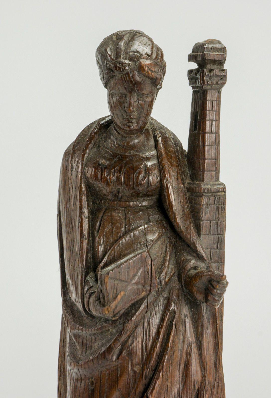 Gotischer Hausaltar Heiligenschrein Madonnenfigur Marienfigur Kirchenfigur Antik Historische Baustoffe