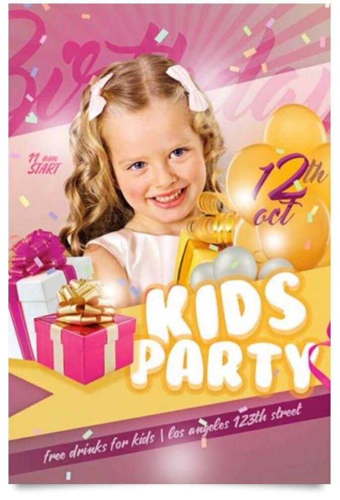 15 Free Birthday Party Flyer Templates Free Birthday Flyer