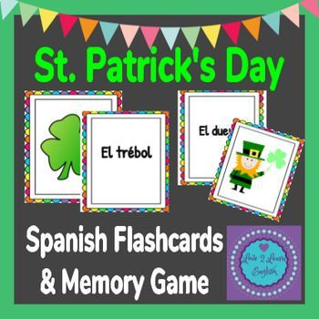 St. Patrick's Day 2020 Spanish Flashcards and... by Love 2 Learn English | Teachers Pay Teachers