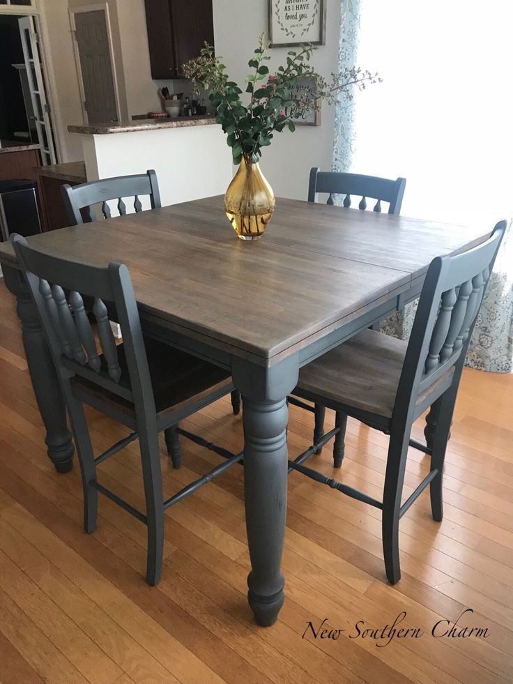 SOLD Adjustable Farmhouse Table Counter Height Table and
