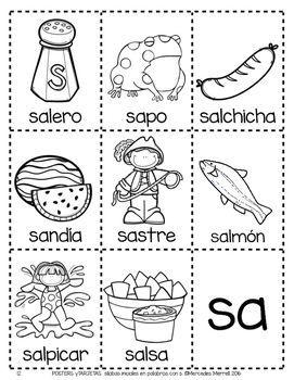 Posters Y Tarjetas De Sílabas Iniciales En Palabras Con S Spanish Silabas Enseñanza De Las Letras Actividades Con La Letra S