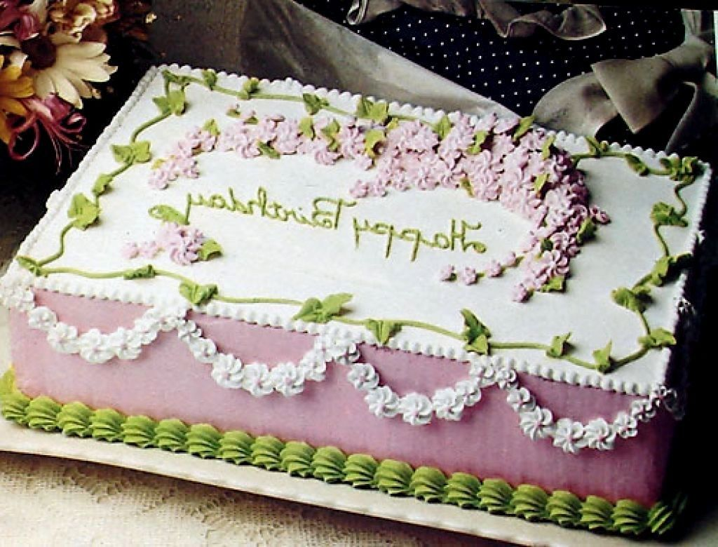 Superb 21 Pretty Picture Of Square Birthday Cakes With Images Cake Funny Birthday Cards Online Hendilapandamsfinfo