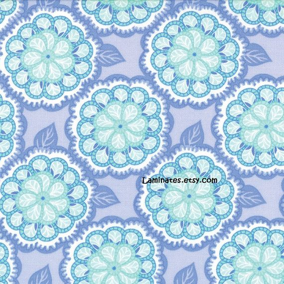 18 X 20 Laminated Fabric Mosaic Blue Violet Honey By