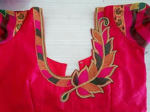 Love The Asymmetry M Pinterest Blouse Designs Embroidery And