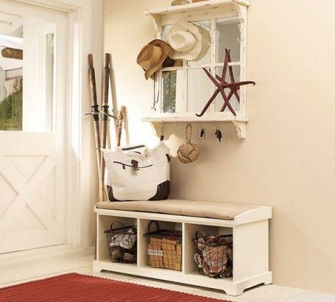 Ideas para almacenamiento básico en el recibidor | Recibidor ...