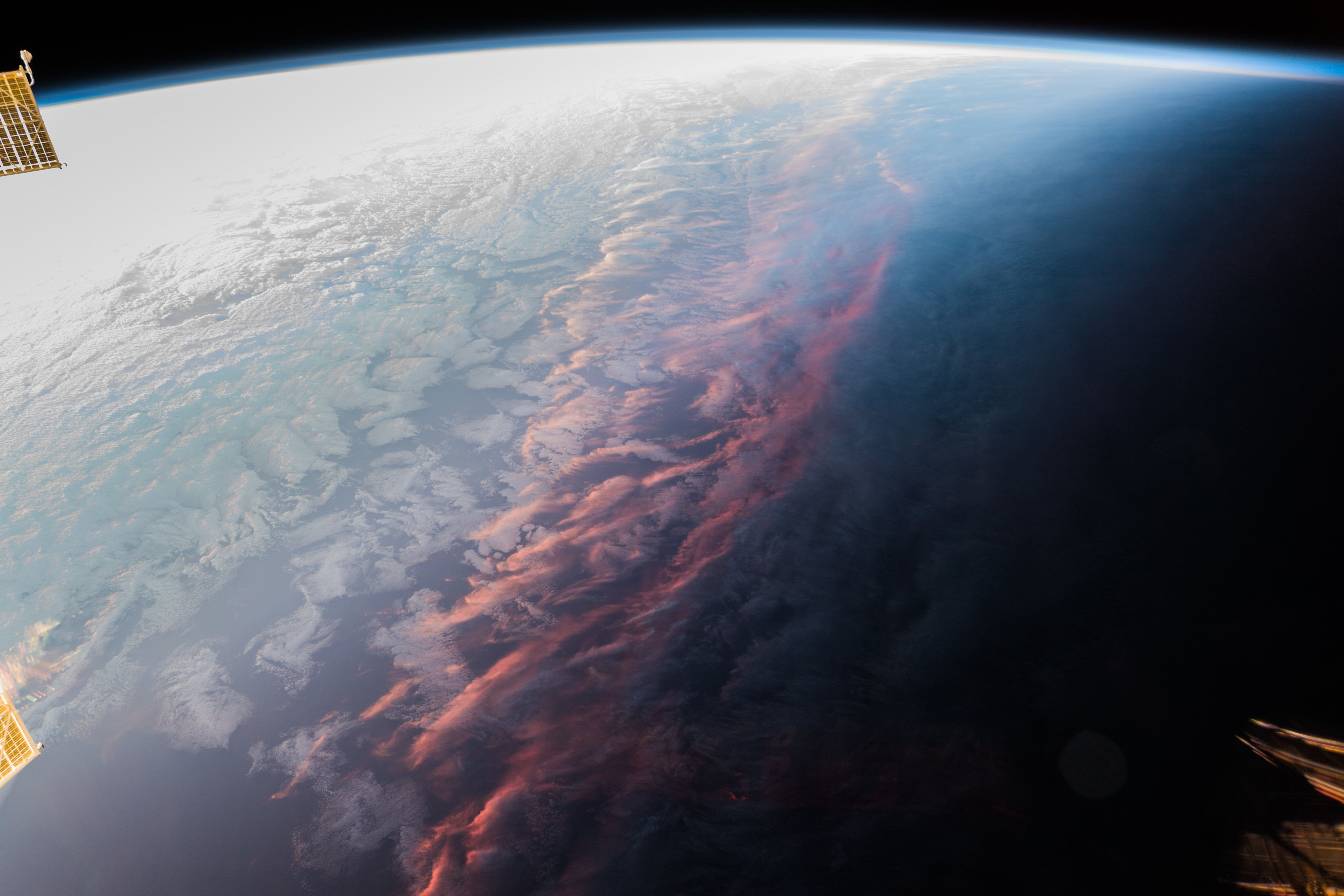 Sunset Over Earth Earth From Space Sunset Earth Outer space earth sunset space planet