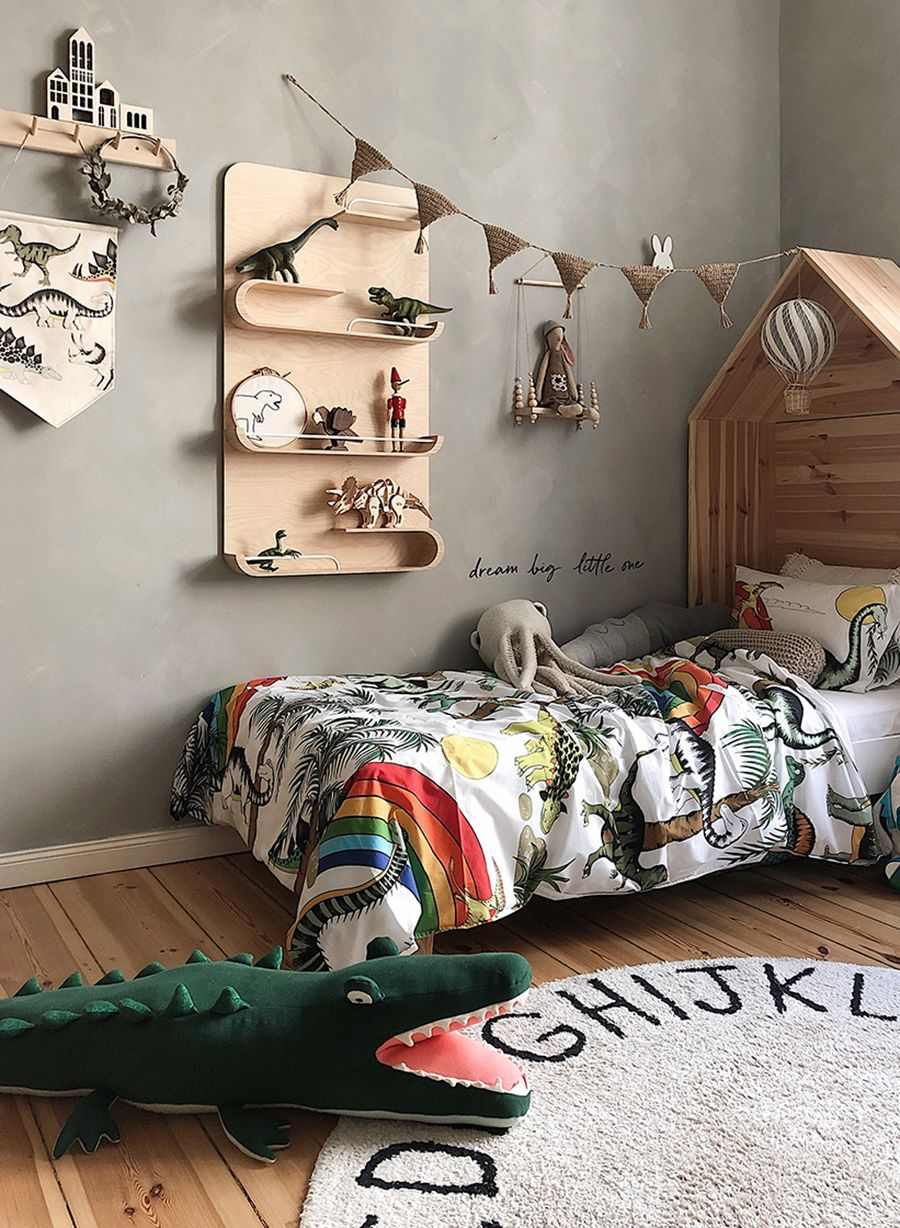 Into The Jungle Dinosaur Theme In Children S Rooms Rafa Kids Boy Room Themes Toddler Boy Room Themes Boy Toddler Bedroom
