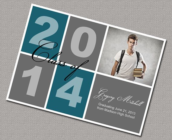 Boys high school graduation announcement 402