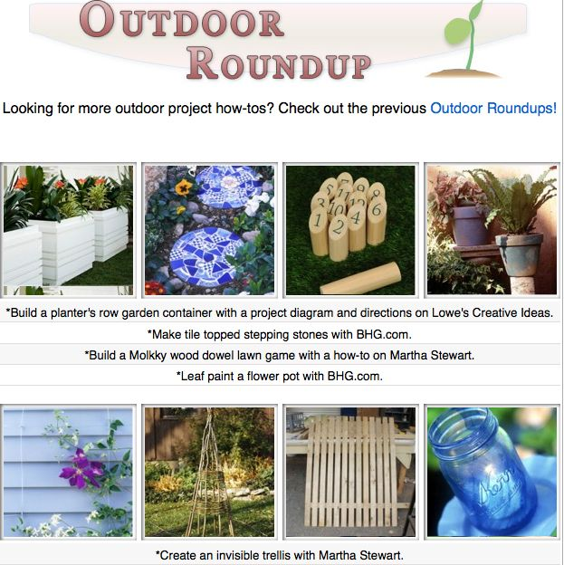 16 diy tutorials for the outdoors! Build fences, make planters, decorate the garden and more!