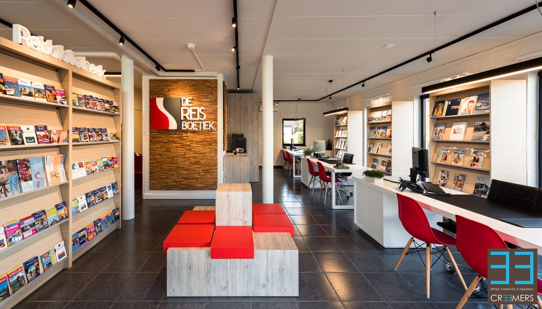 Kantoor en ontvangstruimte van reisbureau de reisboetiek for Kantoor interieur design