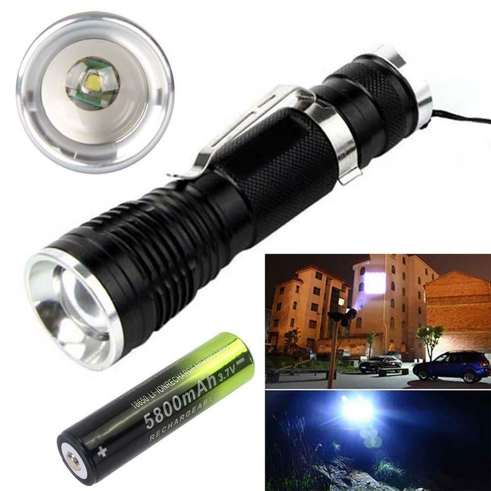 18650 Battery 150000LM Tactical XM-L T6 COB LED Torch Flashlight with Magnet